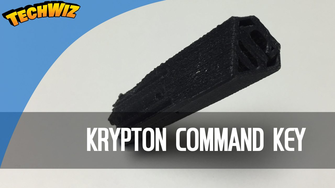 3D Printed Krypton Command Key from Superman Man Of Steel