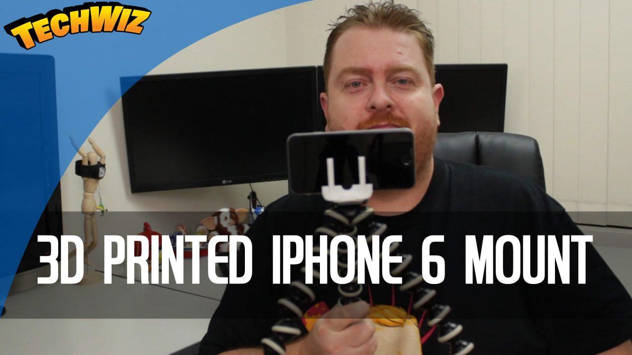 3D Printed iPhone 6 Holder Mount For Tripods or Gorillapods 3DBurn Ep 1