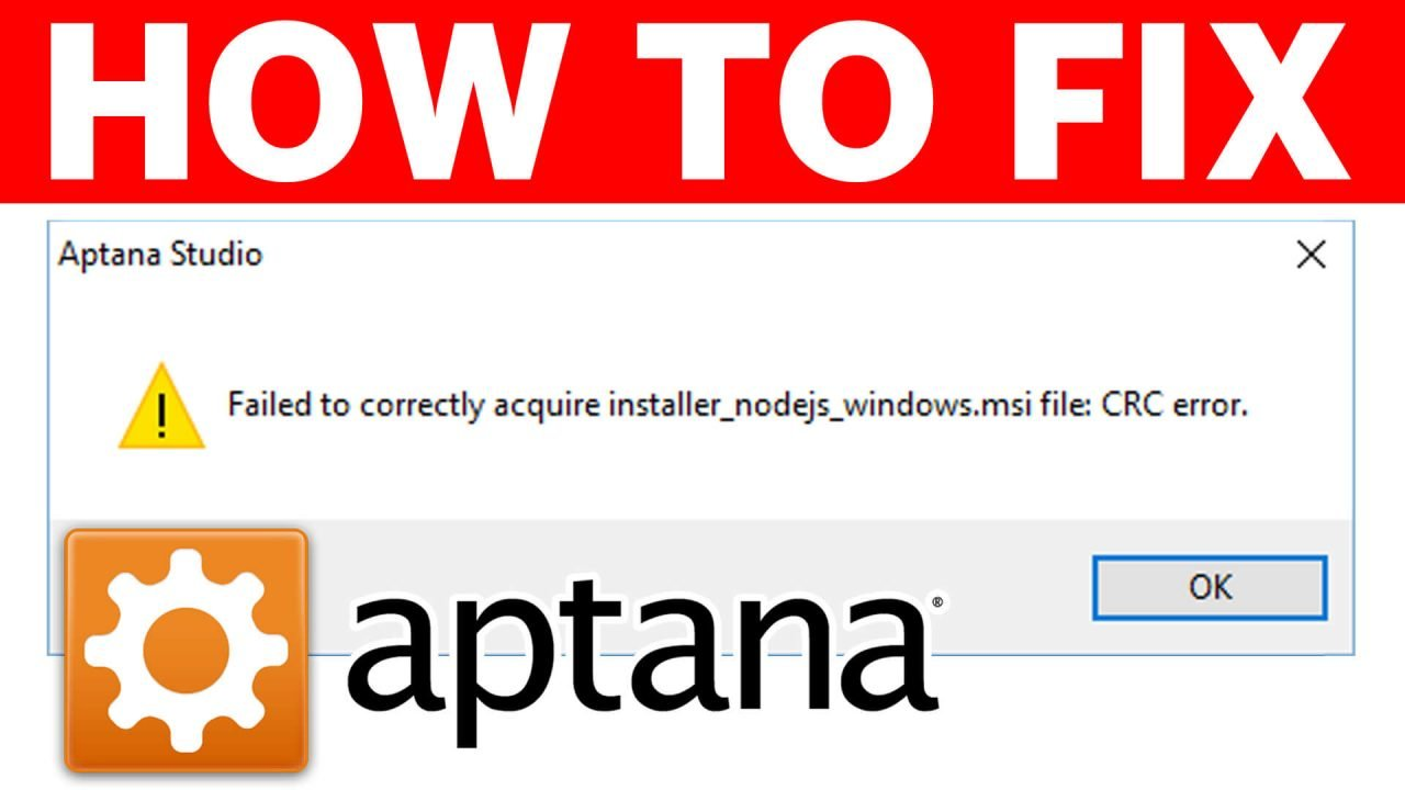 Failed to correctly acquire installer_nodejs_windows.msi file: CRC error when installing Aptana Studio