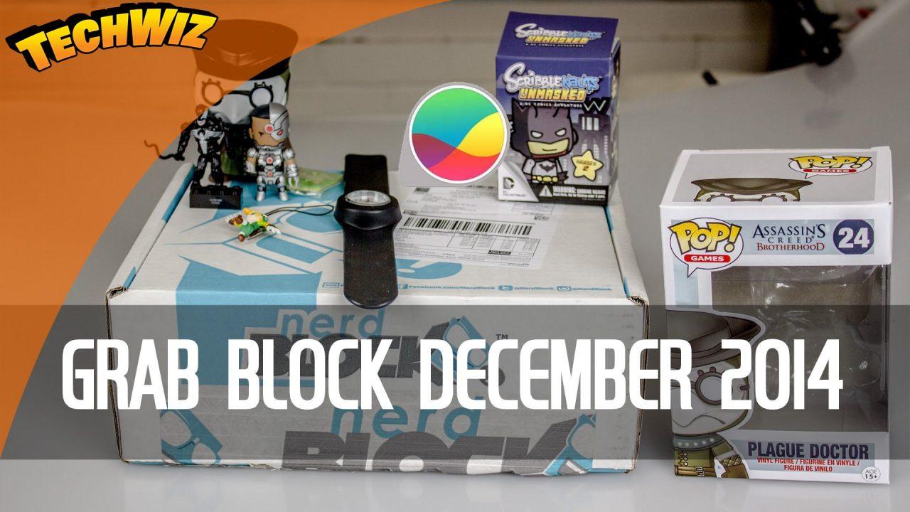 Grab Block December 2014 Unboxing Subscription Box Nerd Block TechWiz