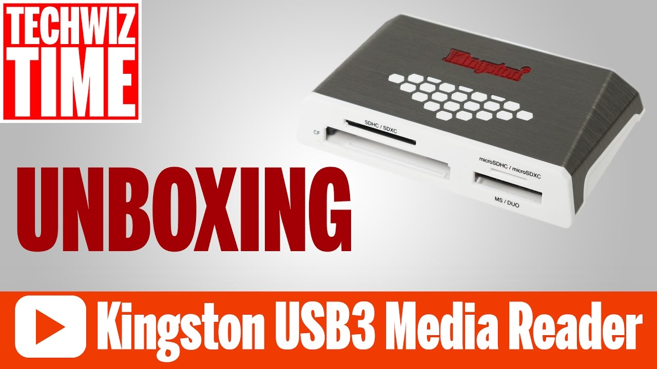Kingston USB 3 High Speed Media Reader Unboxing