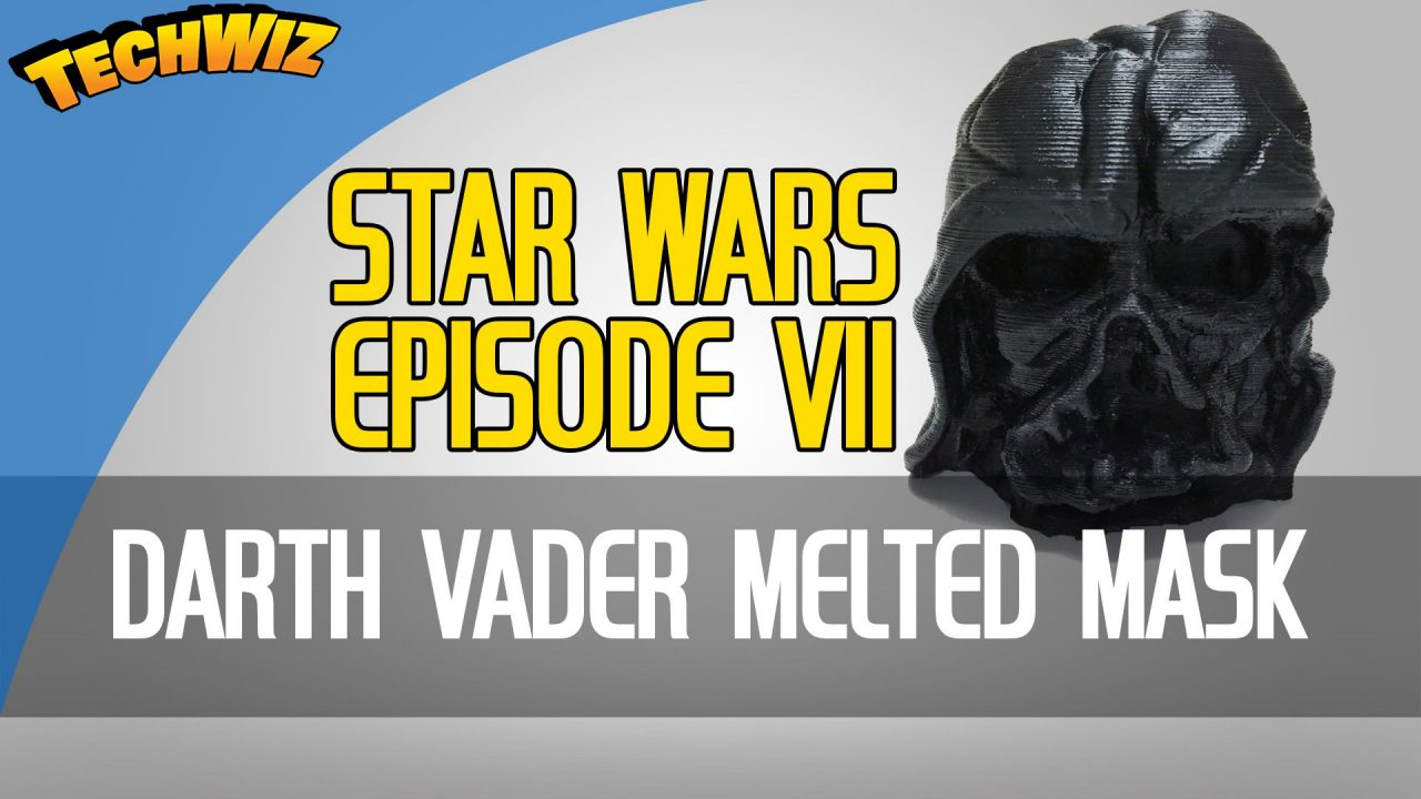 Star Wars Episode 7 Darth Vader Melted Mask 3D Print from the New Trailer 3DBurn Ep 3