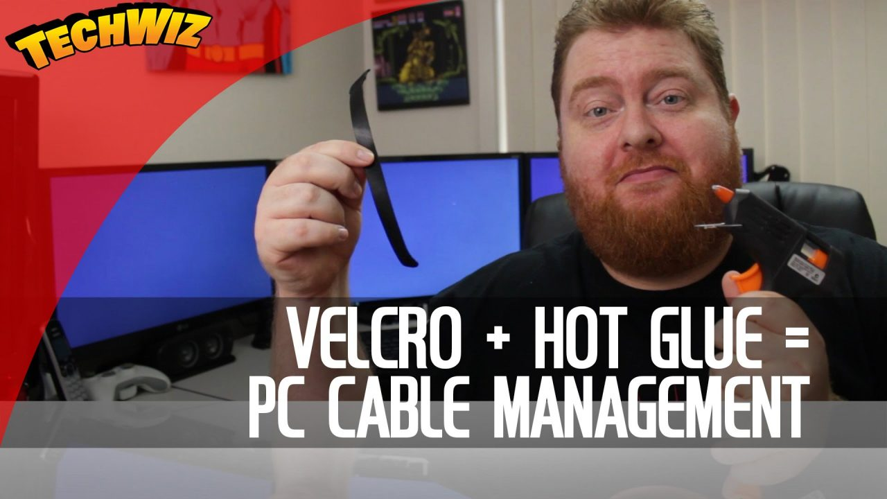 Using Velcro Cable Ties and Hot Glue for the Ultimate Computer Desk Cable Management