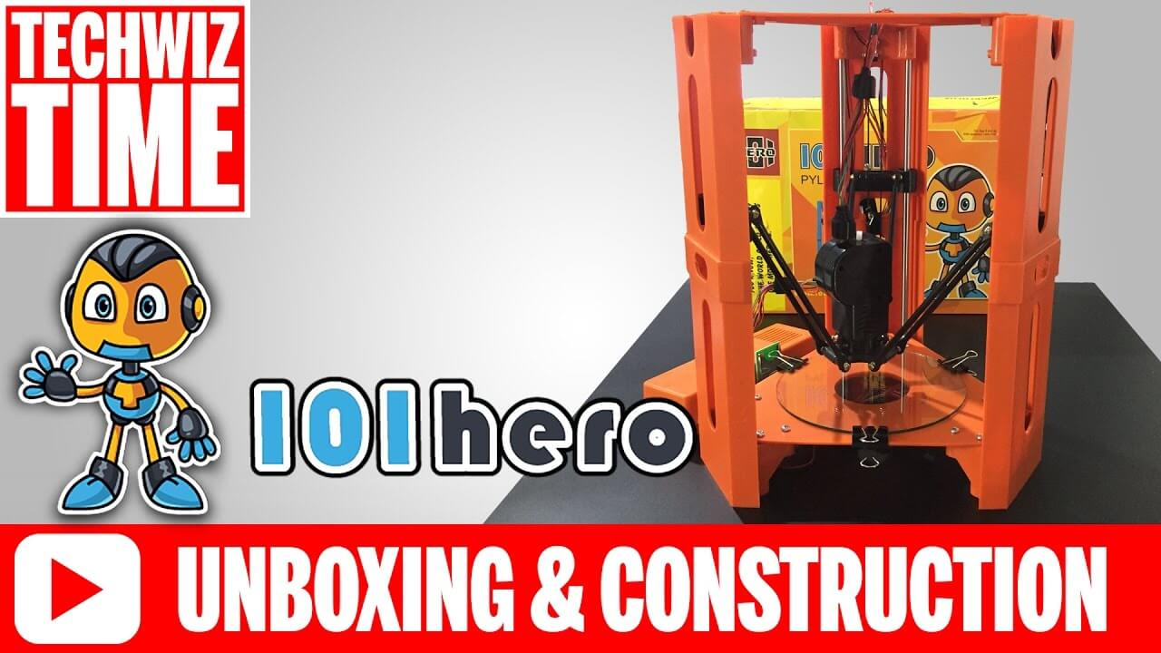 101 HERO Unboxing and Construction of Worlds Cheapest 3D Printer from Kickstarter