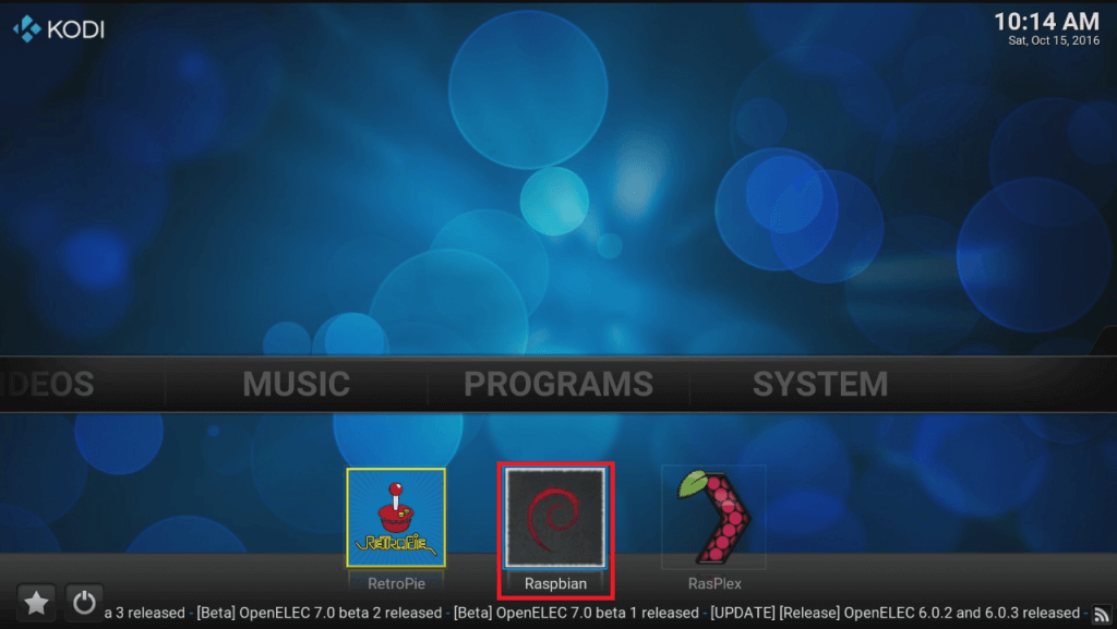 OpenElec Kodi on the Raspberry Pi