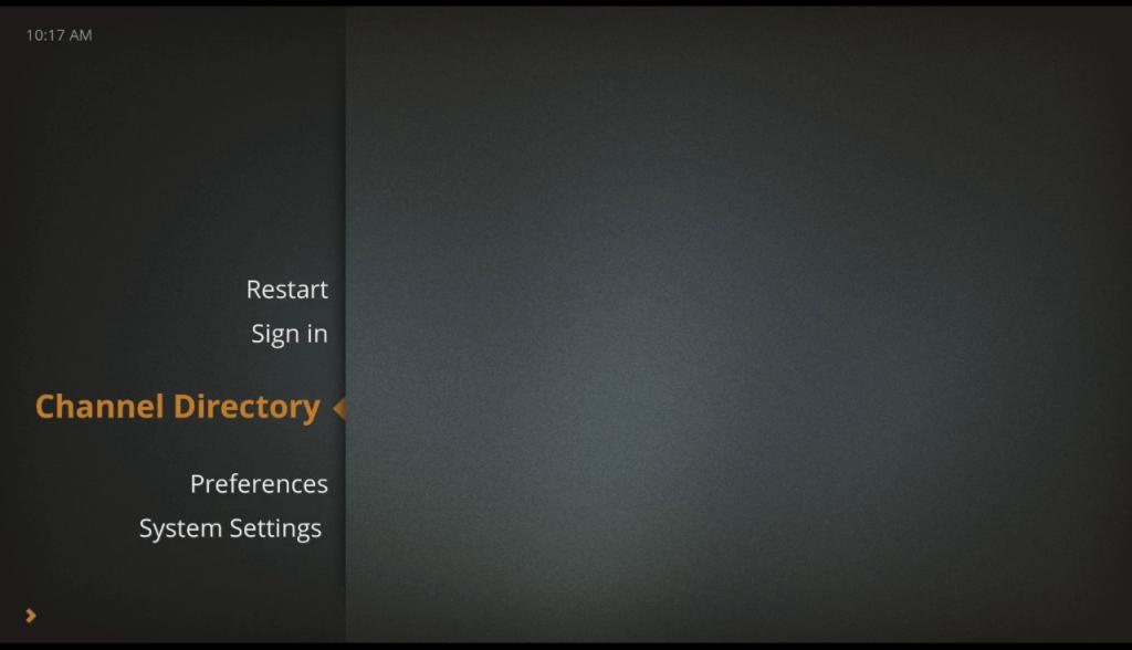 RasPlex main screen