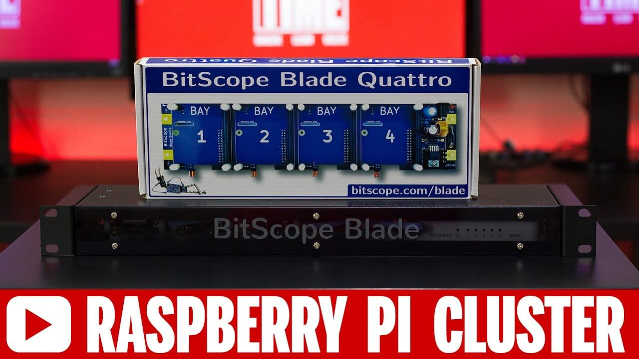 Simple Raspberry Pi Cluster Server Solution using Bitscope Blade Rack