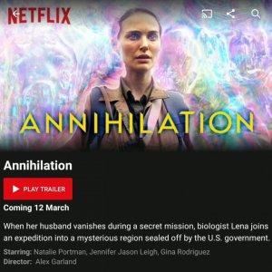Annihilation Netflix