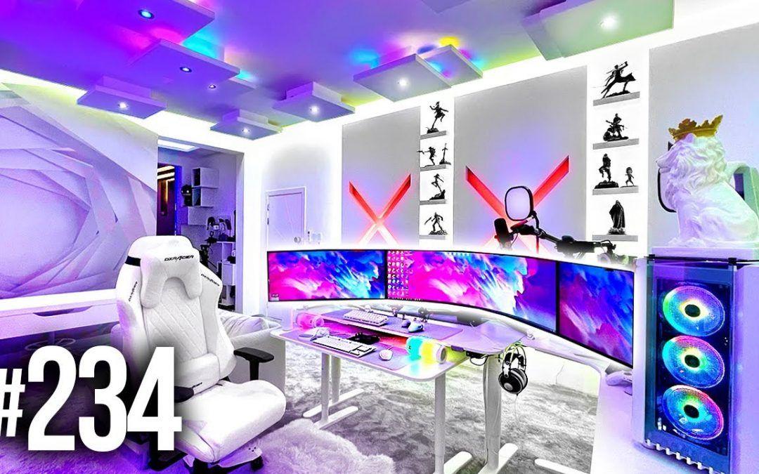 Room Tour Project 234  – BEST Desk & Gaming Setups!