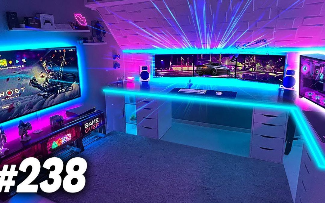 Room Tour Project 238  – BEST Desk & Gaming Setups!