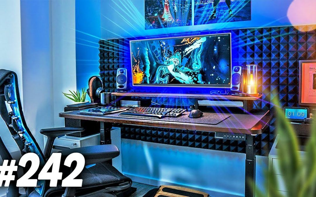 Room Tour Project 242 – Clean & Minimal Desk Setups!