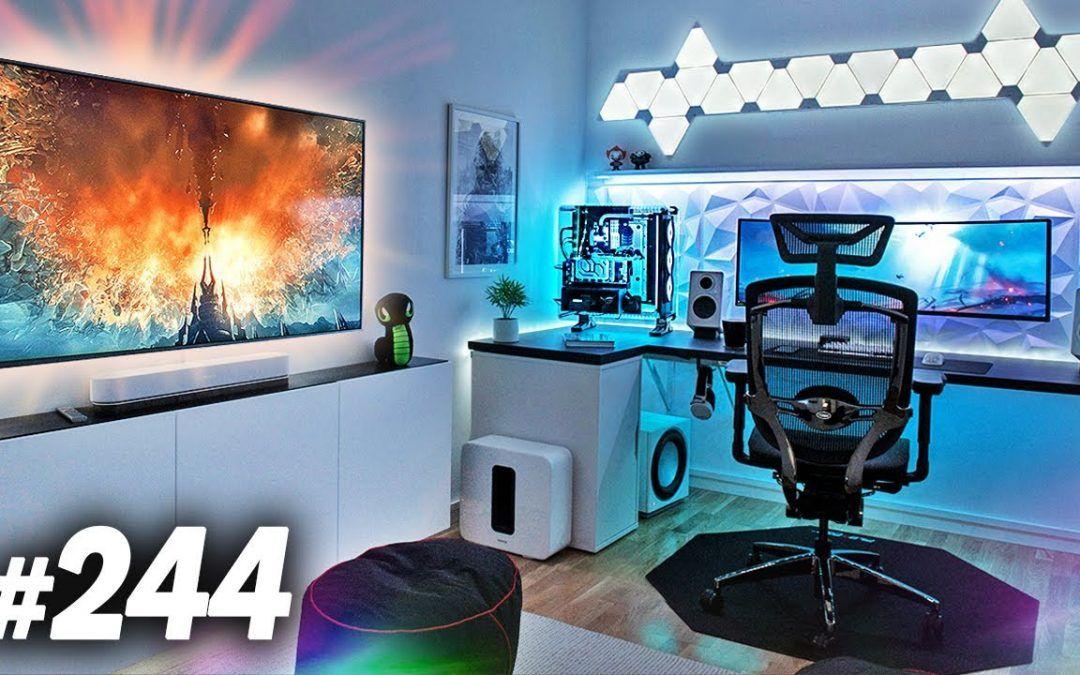 Room Tour Project 244  – DOPE Desk & Gaming Setups!