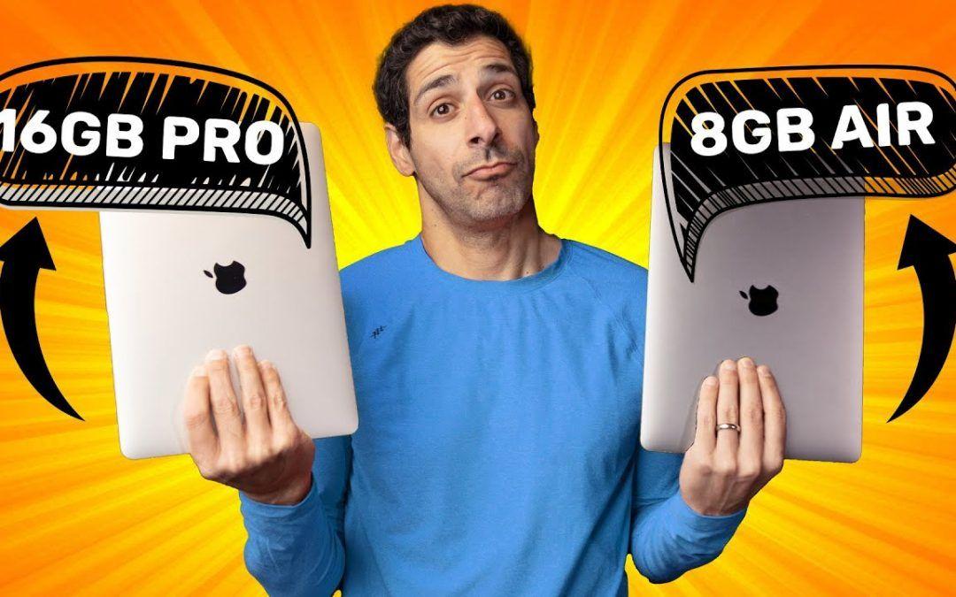 RESULTS ARE IN!!! 8GB M1 MacBook Air vs 16GB M1 MacBook Pro