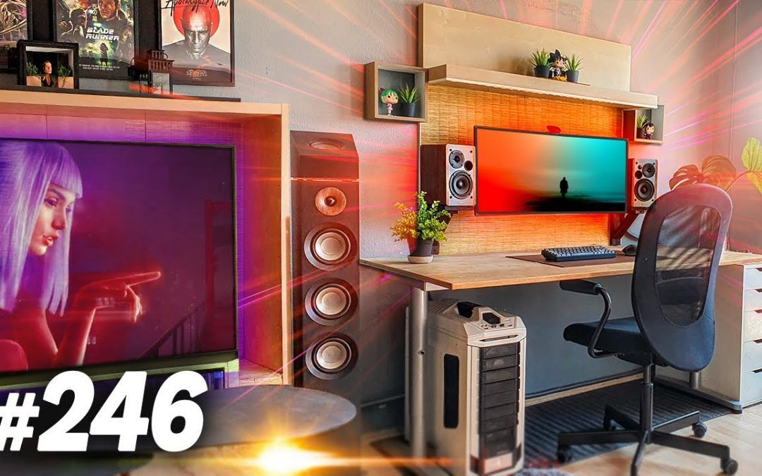 Room Tour Project 246  – CHILL Desk & Gaming Setups!
