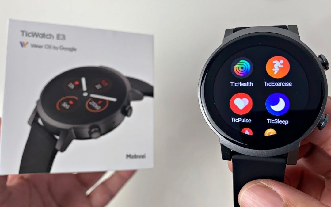 Mobvoi TicWatch E3 Smartwatch – Snapdragon 4100 – WearOS – Cheaper Alternative to Ticwatch Pro 3!