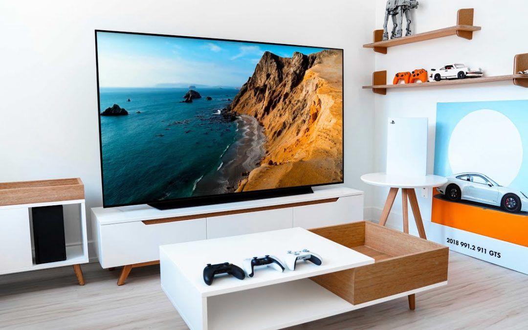 My Minimal TV Living Room Tour – The BEST OLED 4K TV Setup!