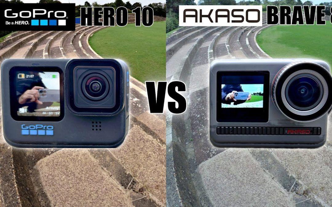AKASO Brave 8 vs Go Pro Hero 10 – Flagship Action Camera Comparison – is it Brave Enough?