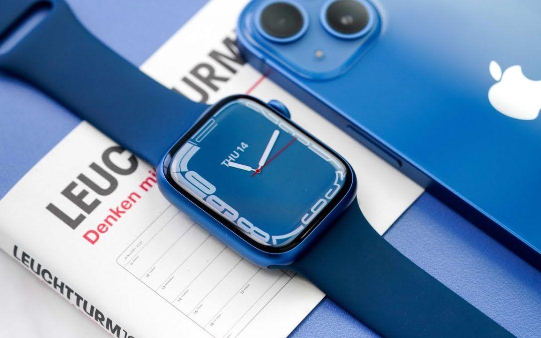 Apple Watch Series 7 UNBOXING – BLUE Aluminum!