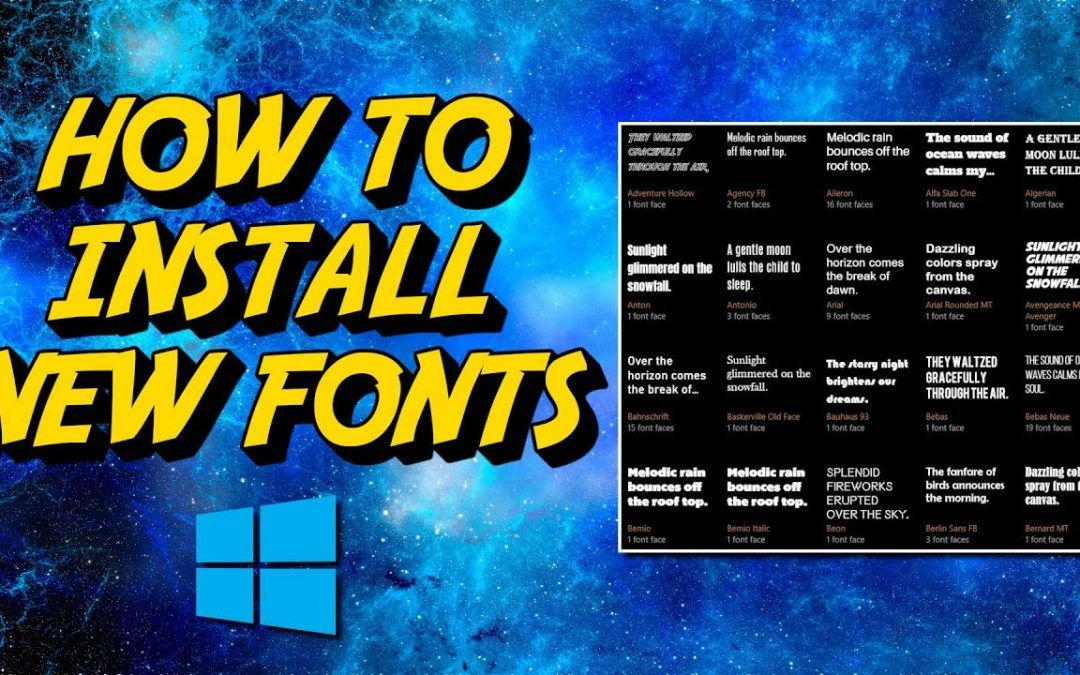 Windows 10: How to Install Fonts on Your PC